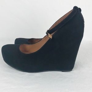 Jeffery Campbell Size 7.5 Black sunshade wedges